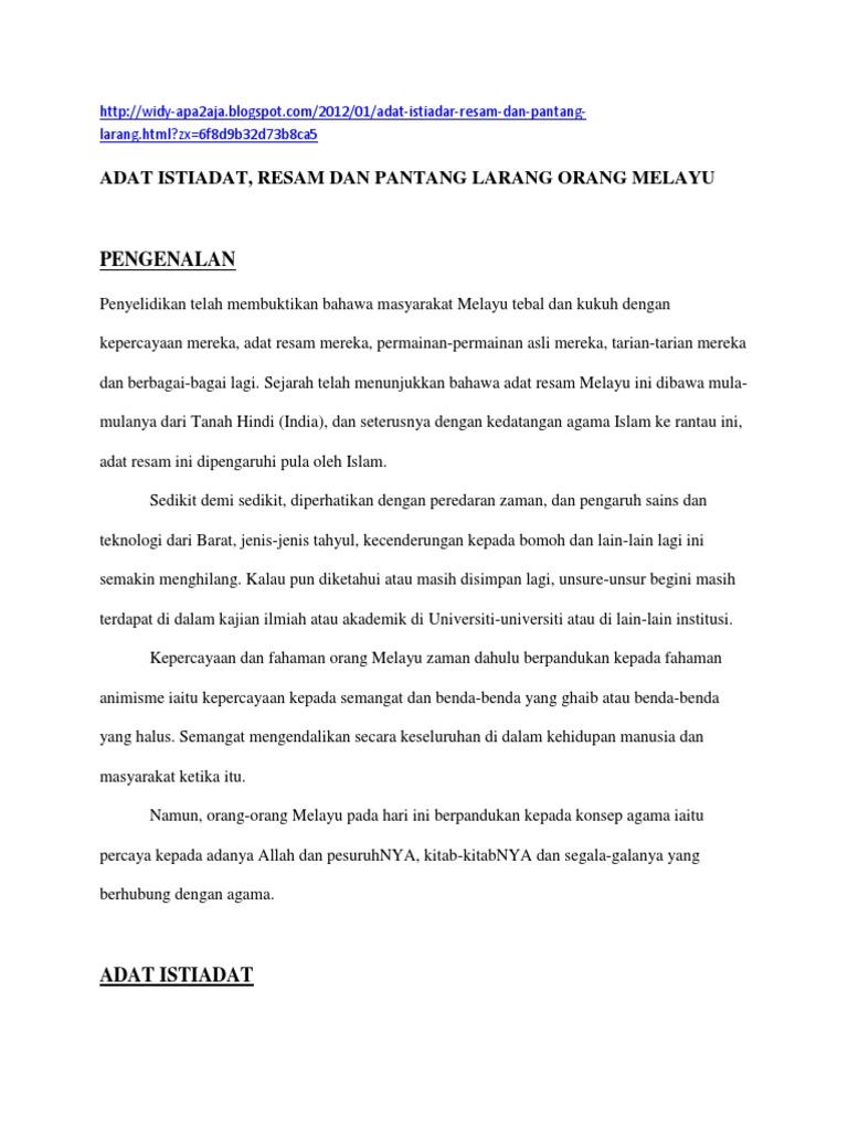 Adat Pantang Melayu