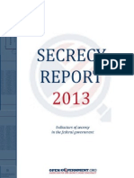 Secrecy Report 2013 Final by Open Government