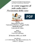 2013.10.25 Bologna - Donne e Crisi Economica