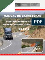 Manual de Carreteras - Especificaciones Tecnicas Generales para Construcción - EG-2013 - (Versión Final - Enero 2013)