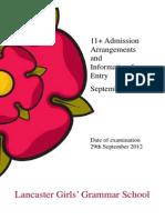11+AdmissionsBooklet 2013 r