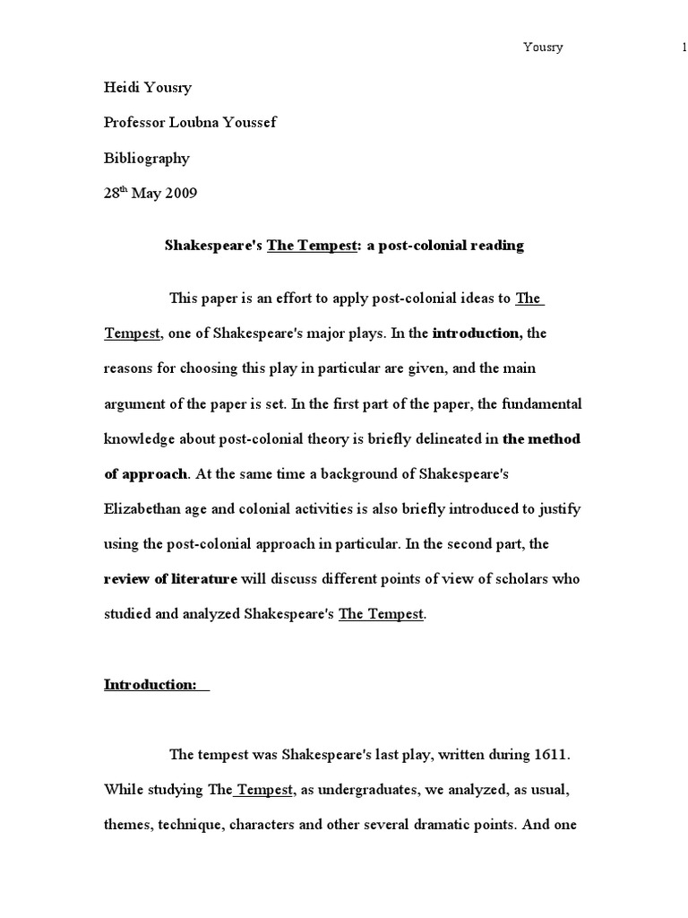 Shakespeares the tempest a post colonial reading the tempest shakespeares the tempest a post colonial reading the tempest postcolonialism biocorpaavc