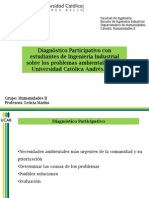 Diagnóstico participativo_problemas ambientales UCAB_avances