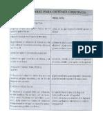 Cuestionario Para Obtener Objetivos
