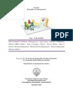 2013 Pec Mba Pom Unit - II Planning  Principles of Management