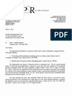 Palumbo & Renaud Letter to Judge (May 21, 2013)