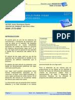TABLAS DE CÁLCULO PARA VIGAS CARRIL DE PUENTE GRÚA