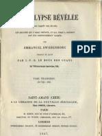 Em Swedenborg L'APOCALYPSE REVELEE TomeTroisieme 2sur2 TABLES LeBoysDesGuays 1857