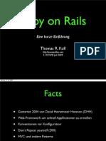 Ruby on Rails - Eine kurze Einführung