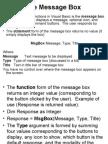 Visual Basic - The Message Box