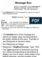Visual Basic - The Message Box
