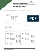 PC1 - IO I - UPN - Programación Lineal - Solución