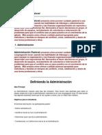 Administración Pastoral Parte 1