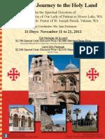 AspiritualJourneytotheHolyLand 2013 Brochure