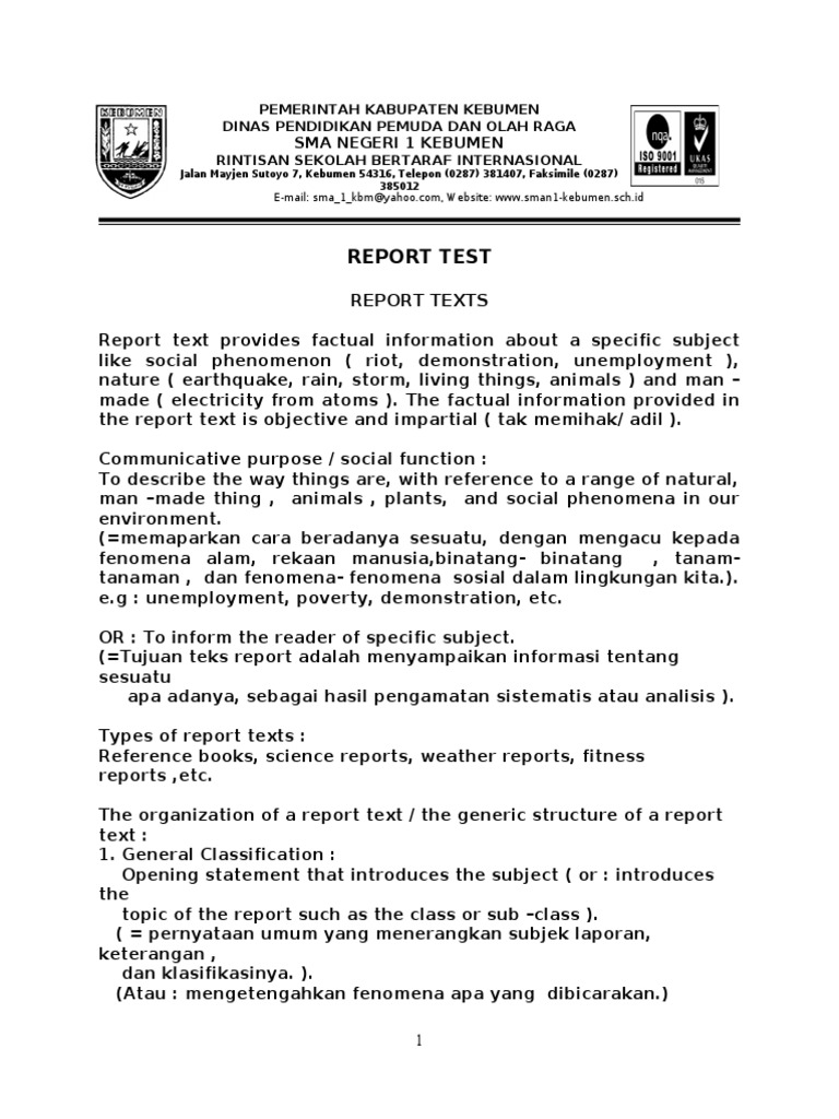 Uncategorized Report Text Animals 2013 report test from erlangga xi sem1 doc volcano types of volcanic eruptions