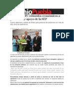 23-07-2013 Sexenio Puebla - Entrega RMV estímulos económicos a personal de apoyo de la SEP