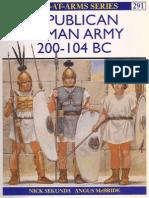 Osprey, Men-At-Arms #291 Republican Roman Army 200-104 Bc[Osprey Maa 291]