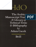 Adam Gacek - The Arabic Manuscript Tradition