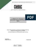 Diffusion Technologie de l'Information Dans La Societe Francaise