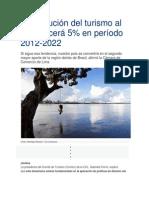 Contribución del turismo al PBI crecerá 5