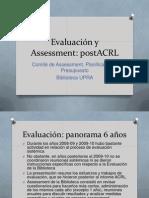 Evaluación y Assessment post ACRL