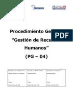 Pg04 Procedimiento de Gestion de Recursos Humanos