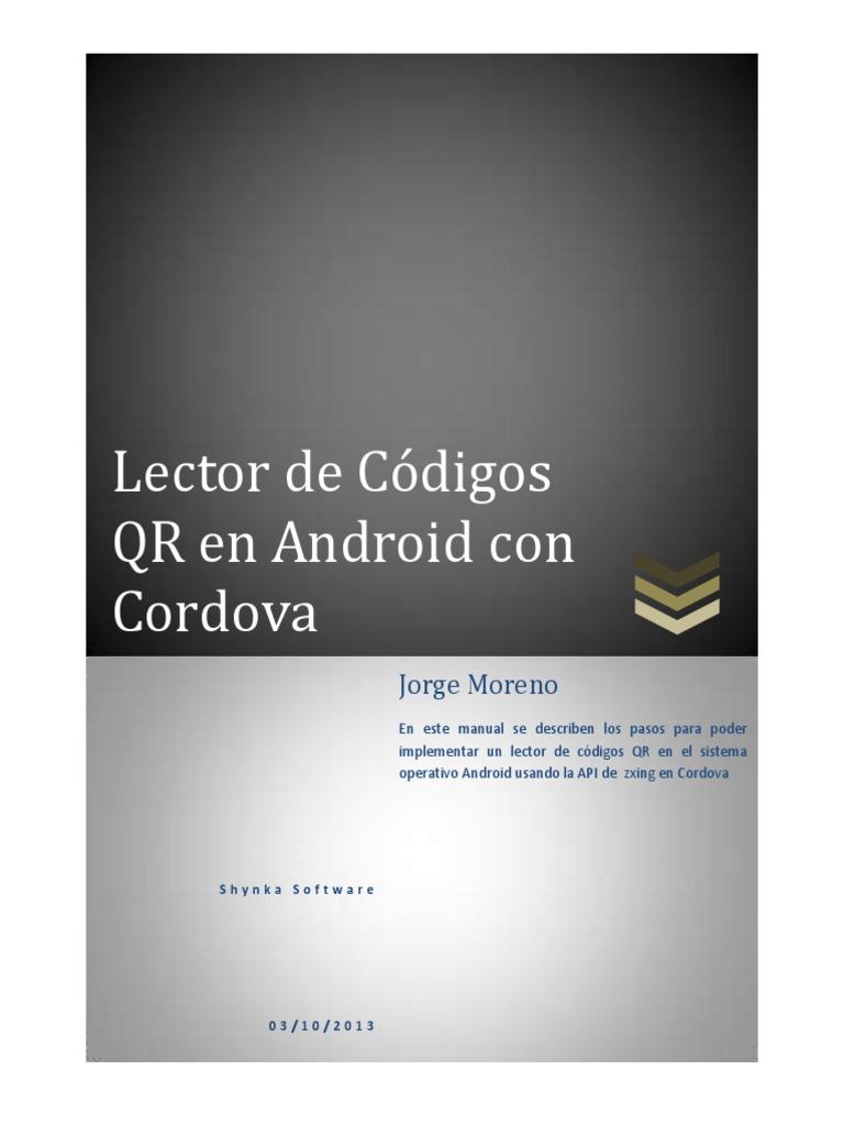 Lector de Códigos QR en Android con Cordova