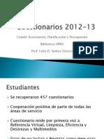 Cuestionarios 2012-13 Biblioteca UPRA