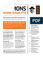Simmons Middle School October PTO Letter
