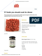 31 Foods You Should Cook for Dinner __ Men's Health