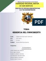Trabajo Final de Gerencia Del Conocimiento - ELGRUPOSIGCOM