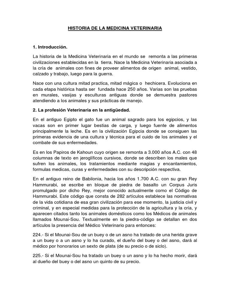 Medicina Veterinaria- Historia