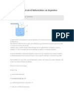 La medición del nivel hidrostático en depósitos abiertos