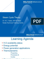 Steam Cycle Theory Reliance)