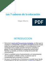 Los 7 saberes de la educación CLASE PRESENTACION