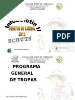 Programa General de Tropas, Fest Toram 3d 2013