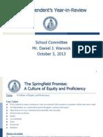 Springfield School Superintendent Daniel Warwick's Presentation to School Committee