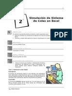 Laboratorio 02 - Simulacion de Sistemas de Colas en Excel