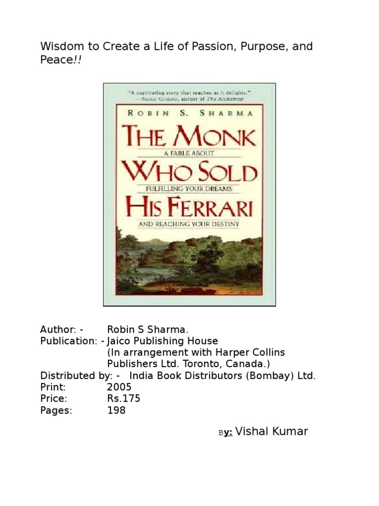 the monk who sold his ferrari pdf ebook