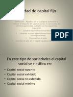 Sociedad de Capital Fijo (1)