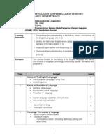 TLS 3101 Introduction to Linguistics