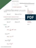 Derivada de la función exponencial
