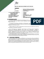 SILABO DE INSTALACIONES ELÉCTRICAS 1