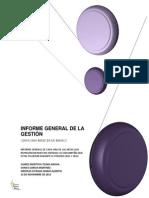 INFORME GENERAL DE LA GESTIÓN