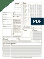 Fantasy Craft Variant Sheet B&W v1.5 Fillable