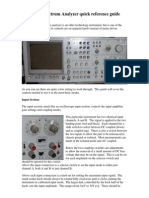 HP 3582A Spectrum Analyzer Quick Reference Guide
