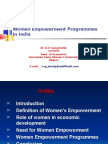 Women Empowerment Programmes in India by Gangshetty