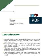 Digital Libraries by HD Gopal