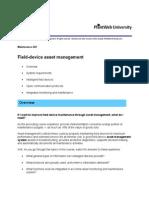 Field-Device Asset Management