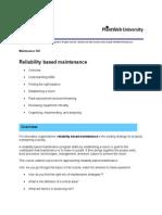 Reability Based Maintenance